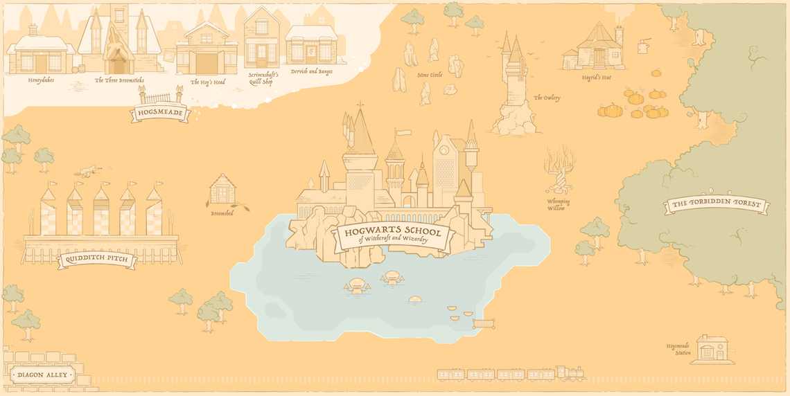 Kano map of Hogwarts