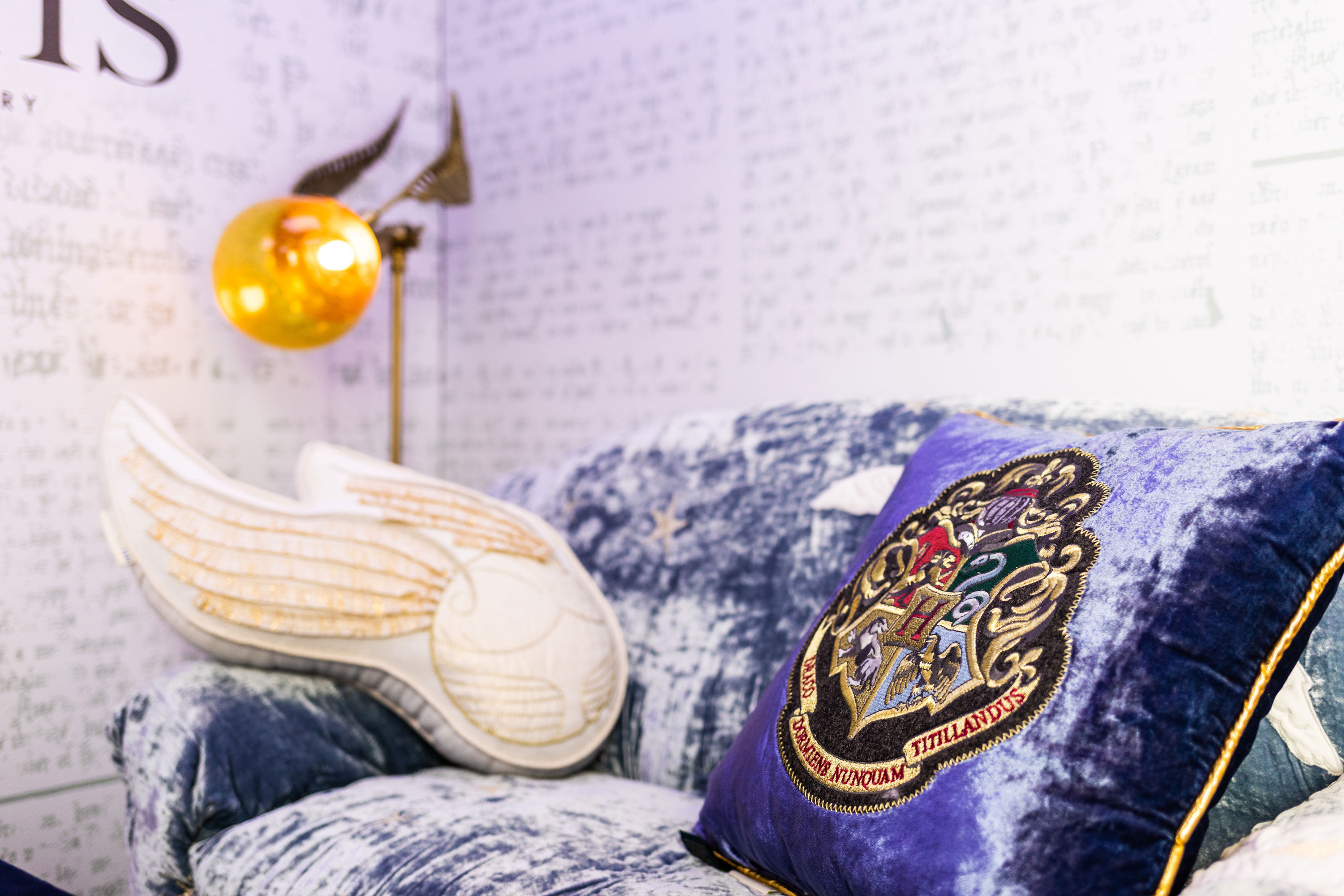 The Golden Snitch pillow is definitely a must-have.