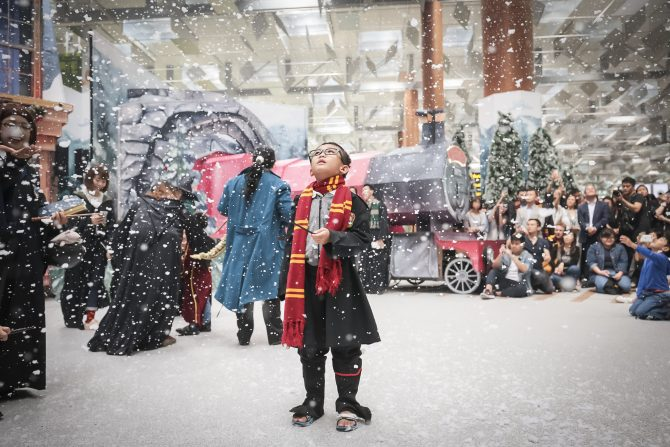 Snow shows in the Changi Airport