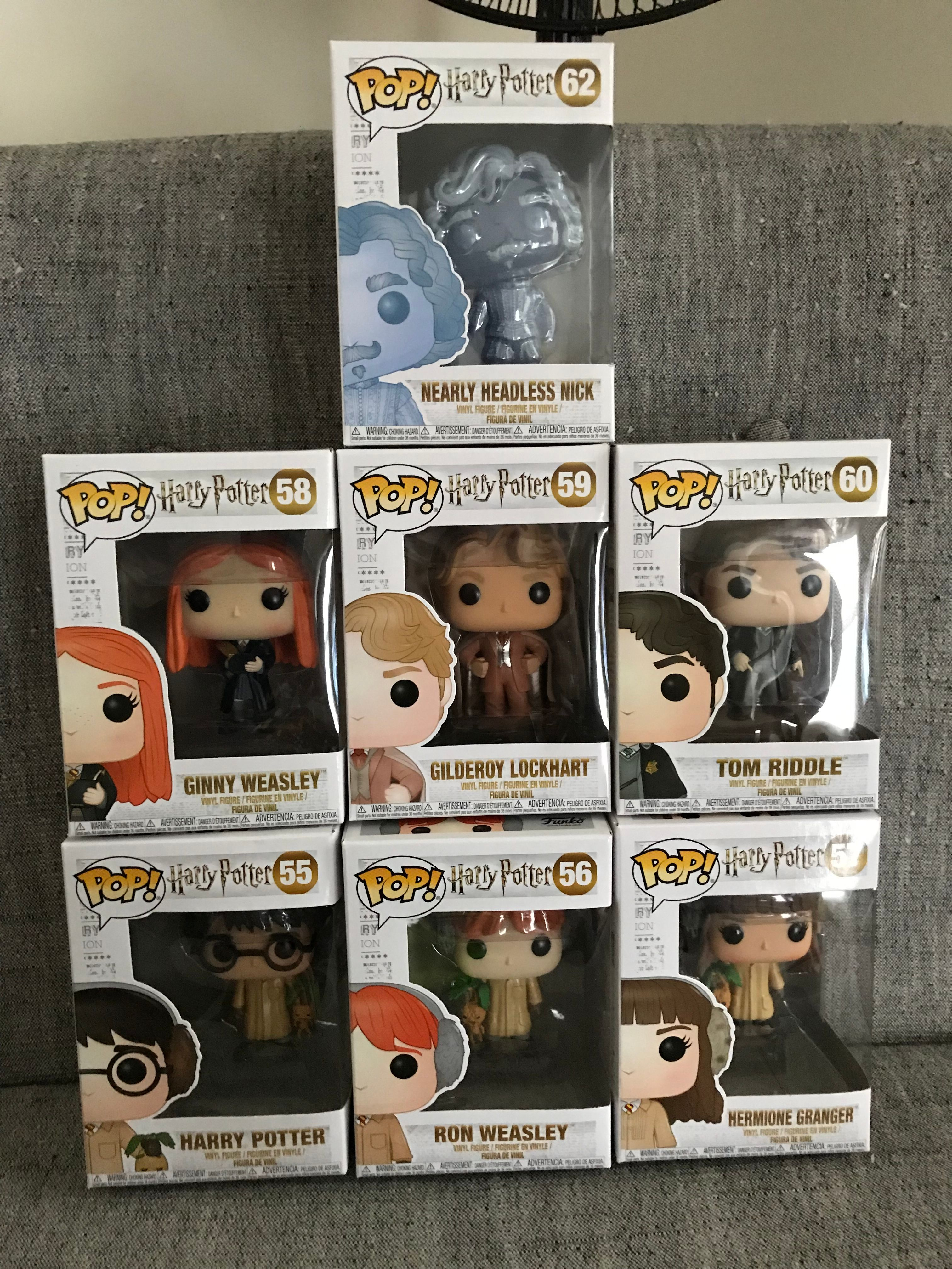 """""""Chamber of Secrets"""" Funko figures stacked"""