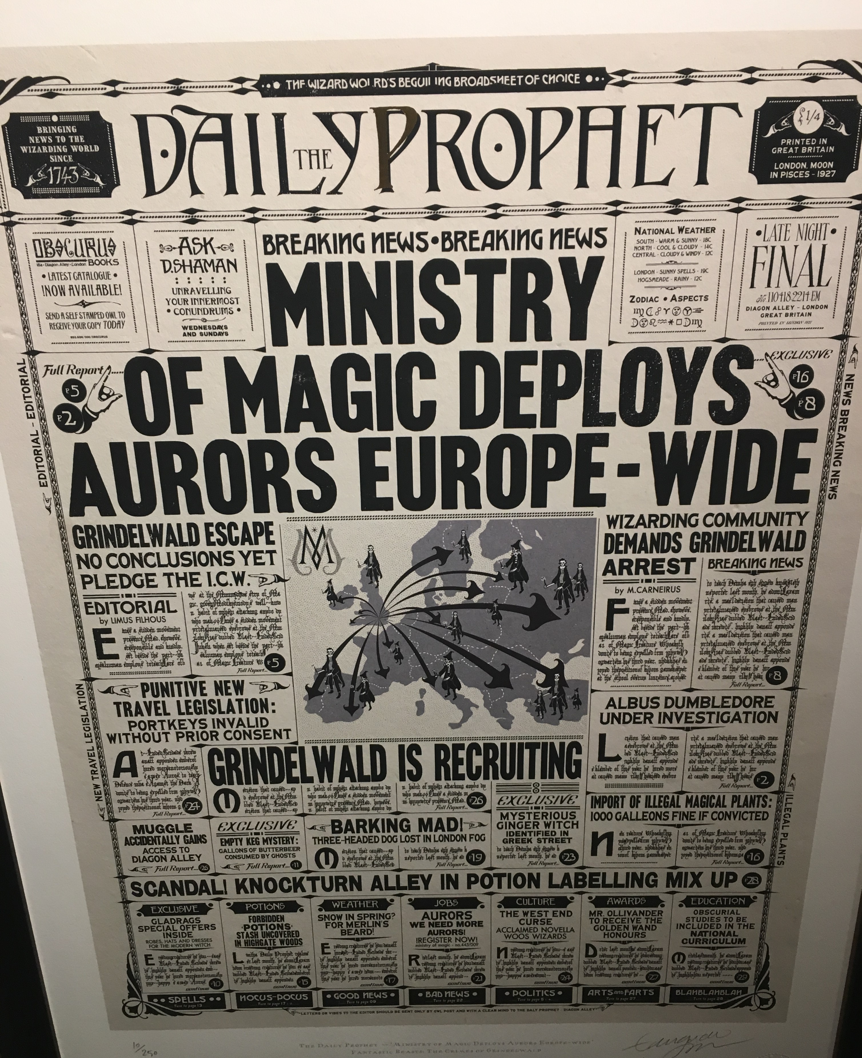 """The Daily Prophet"" – Design by MinaLima for ""Crimes of Grindelwald"""