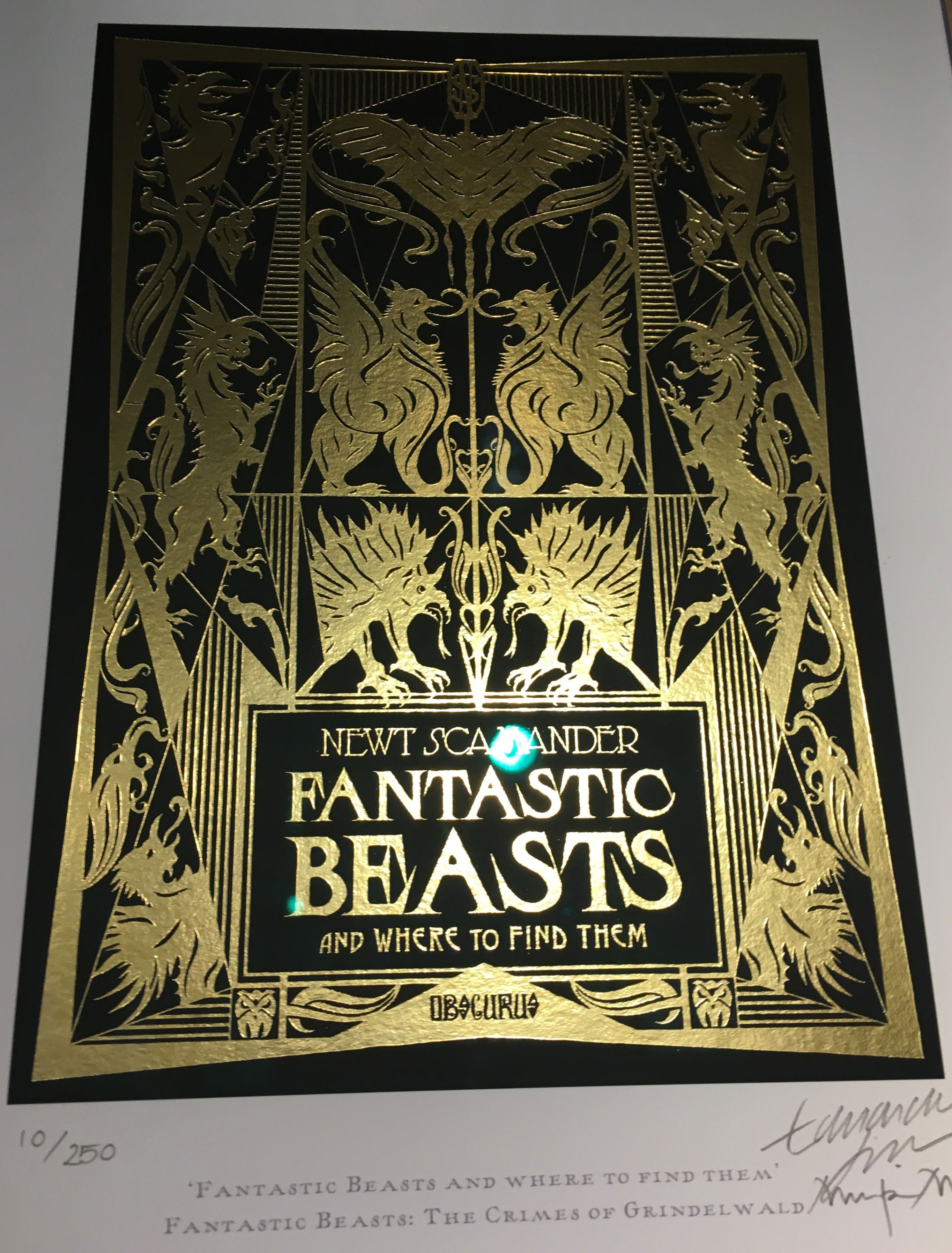 """Fantastic Beasts and Where to Find Them"" by Newt Scamander – Design by MinaLima for ""Crimes of Grindelwald"""