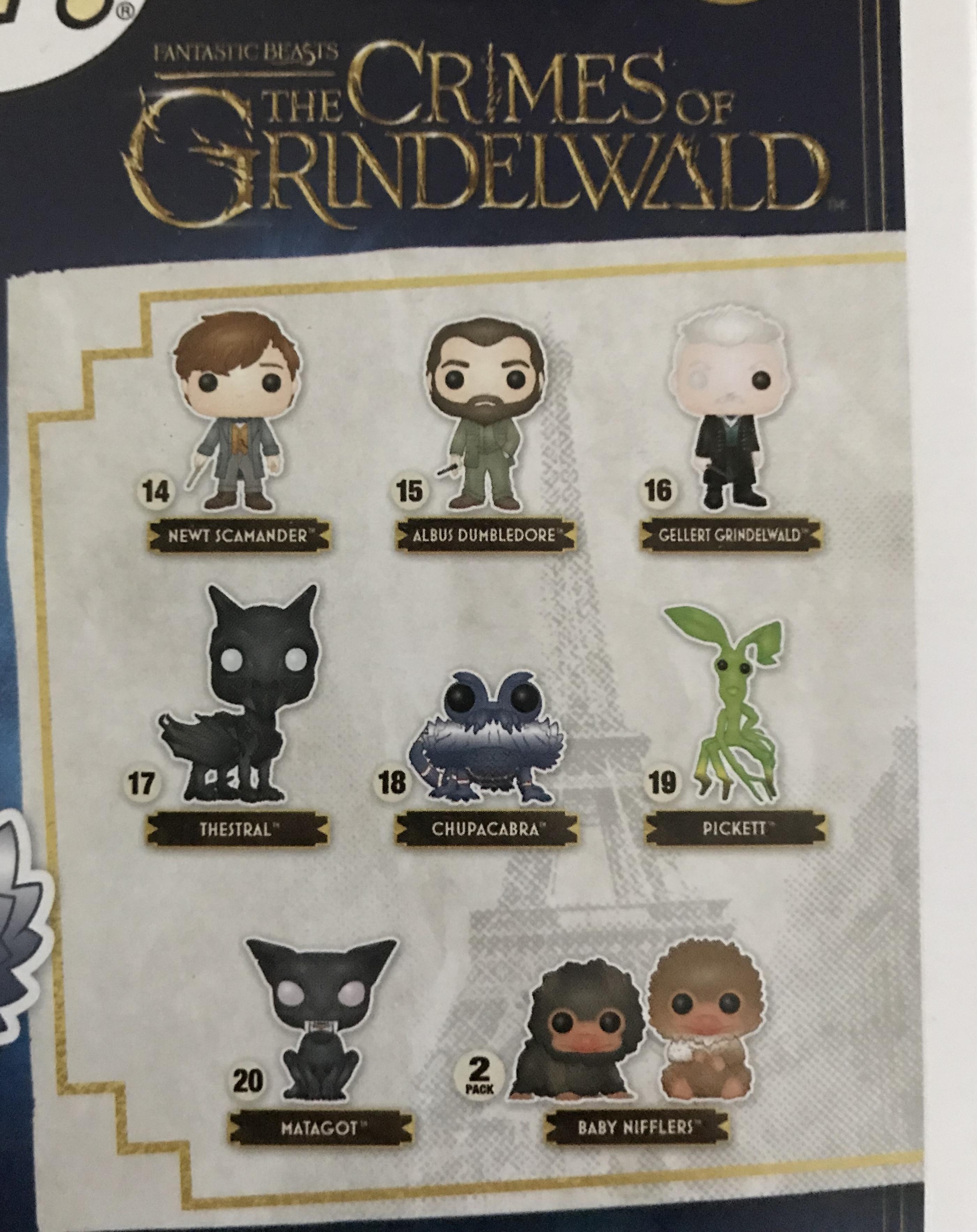 """""""Crimes of Grindelwald"""" Funko line"""