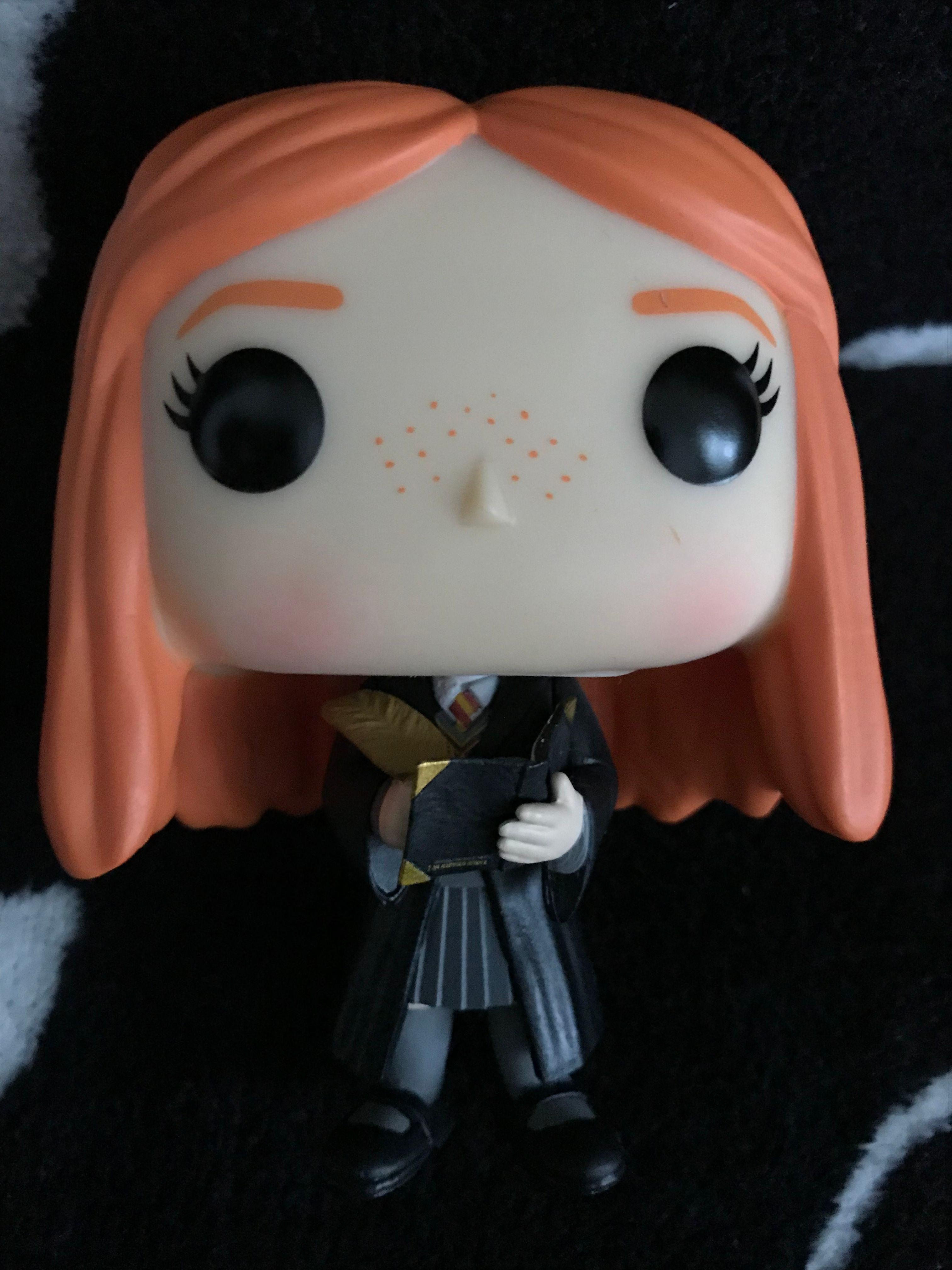Ginny with quill and diary