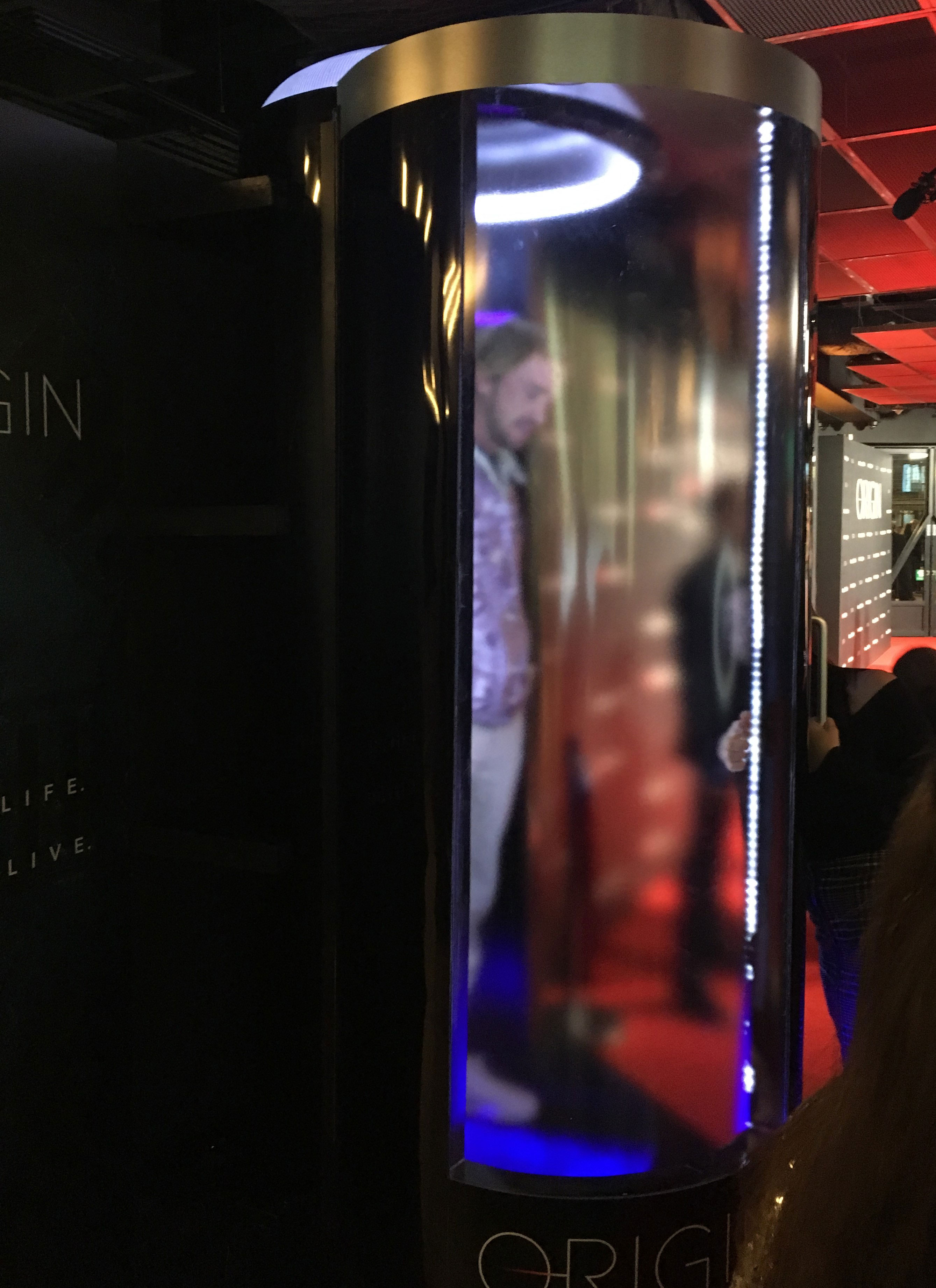 """Tom Felton steps into the cryochamber photobooth at the """"Origin"""" series premiere"""