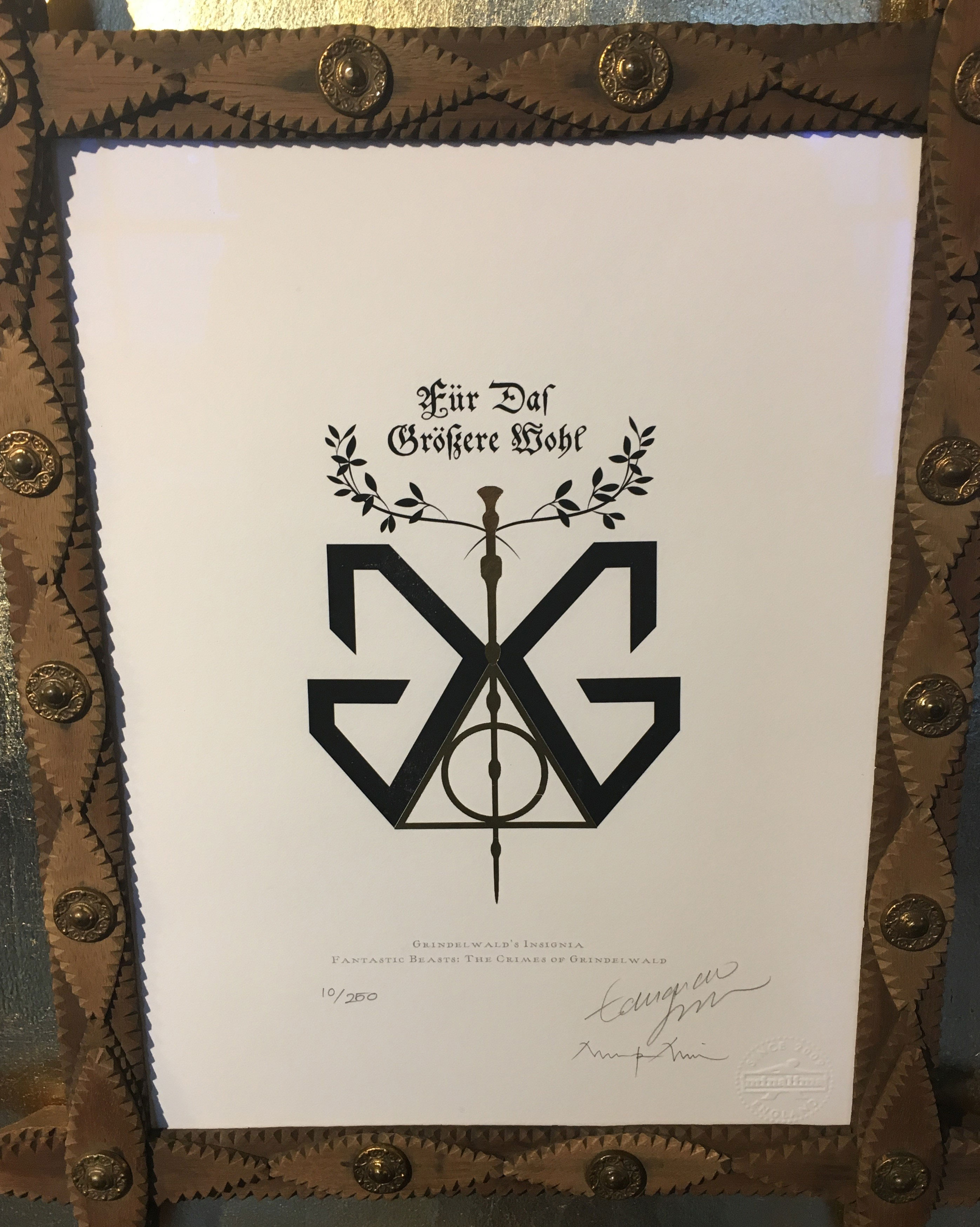 "Grindelwald insignia – Design by MinaLima for ""Crimes of Grindelwald"""