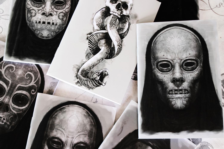 Harry Potter Dark Arts Journals Cover Art by ConQuest Journals