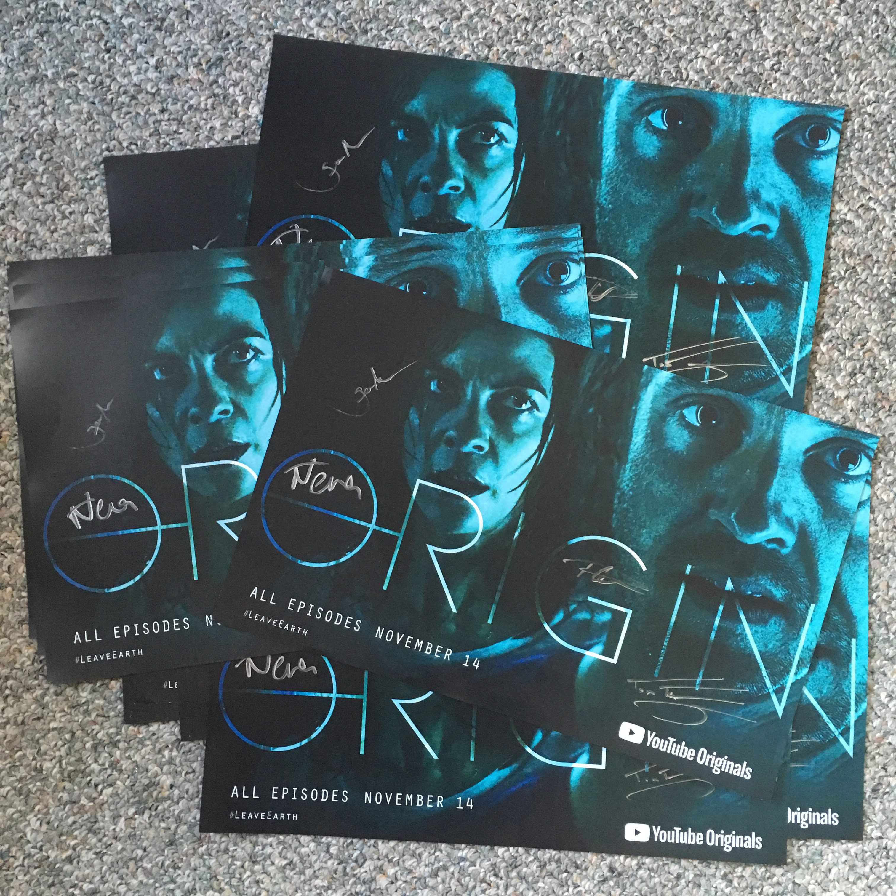 "Tom Felton and Nat Tena ""Origin"" poster, signed"