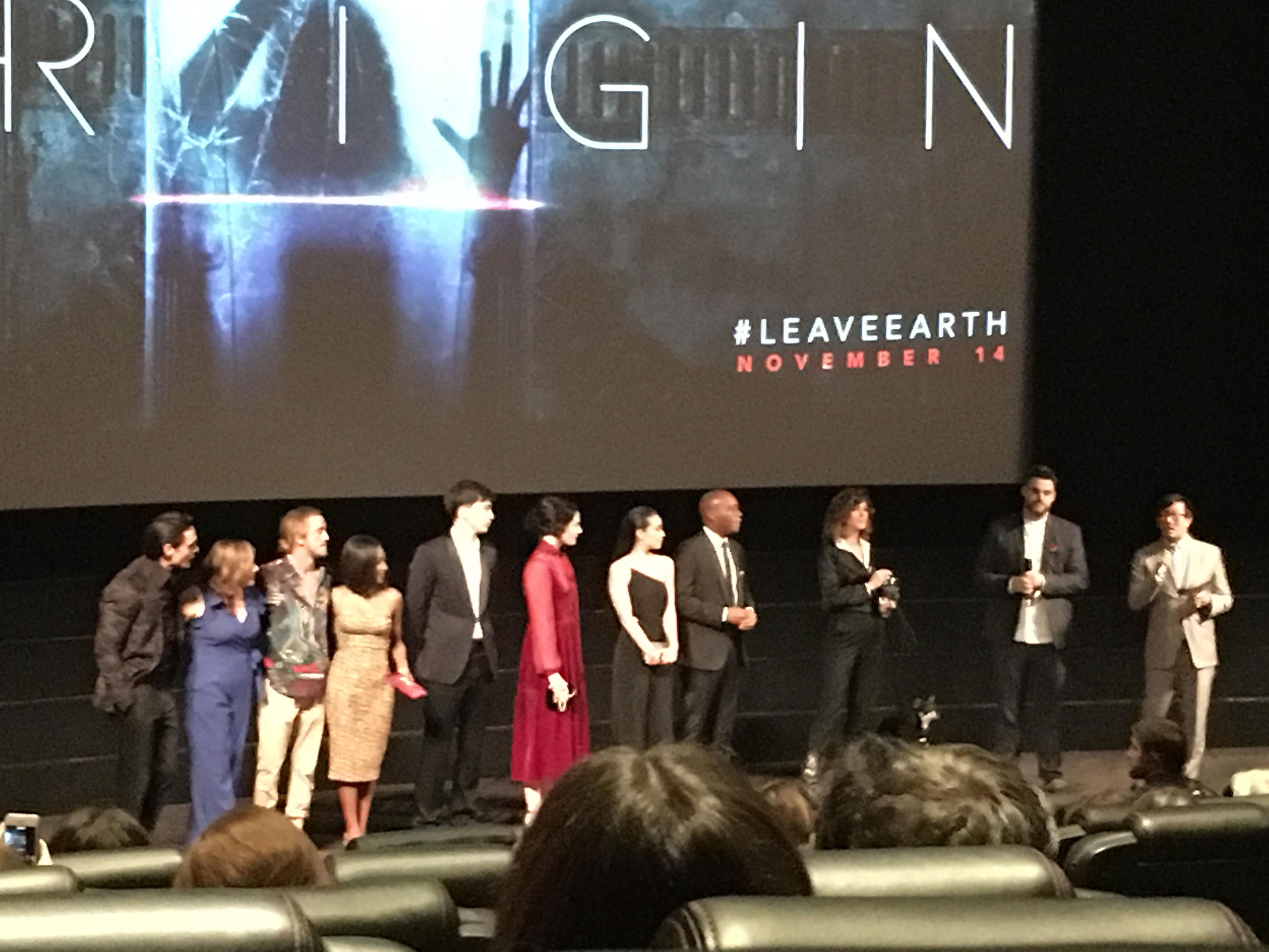 """Origin"" cast at the series premiere"