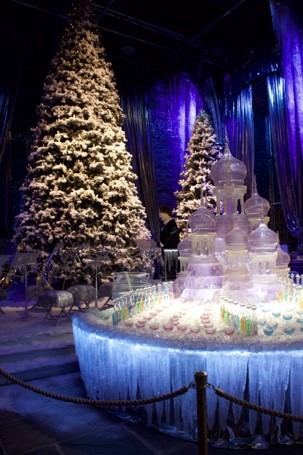 The Great Hall set up for the Yule Ball
