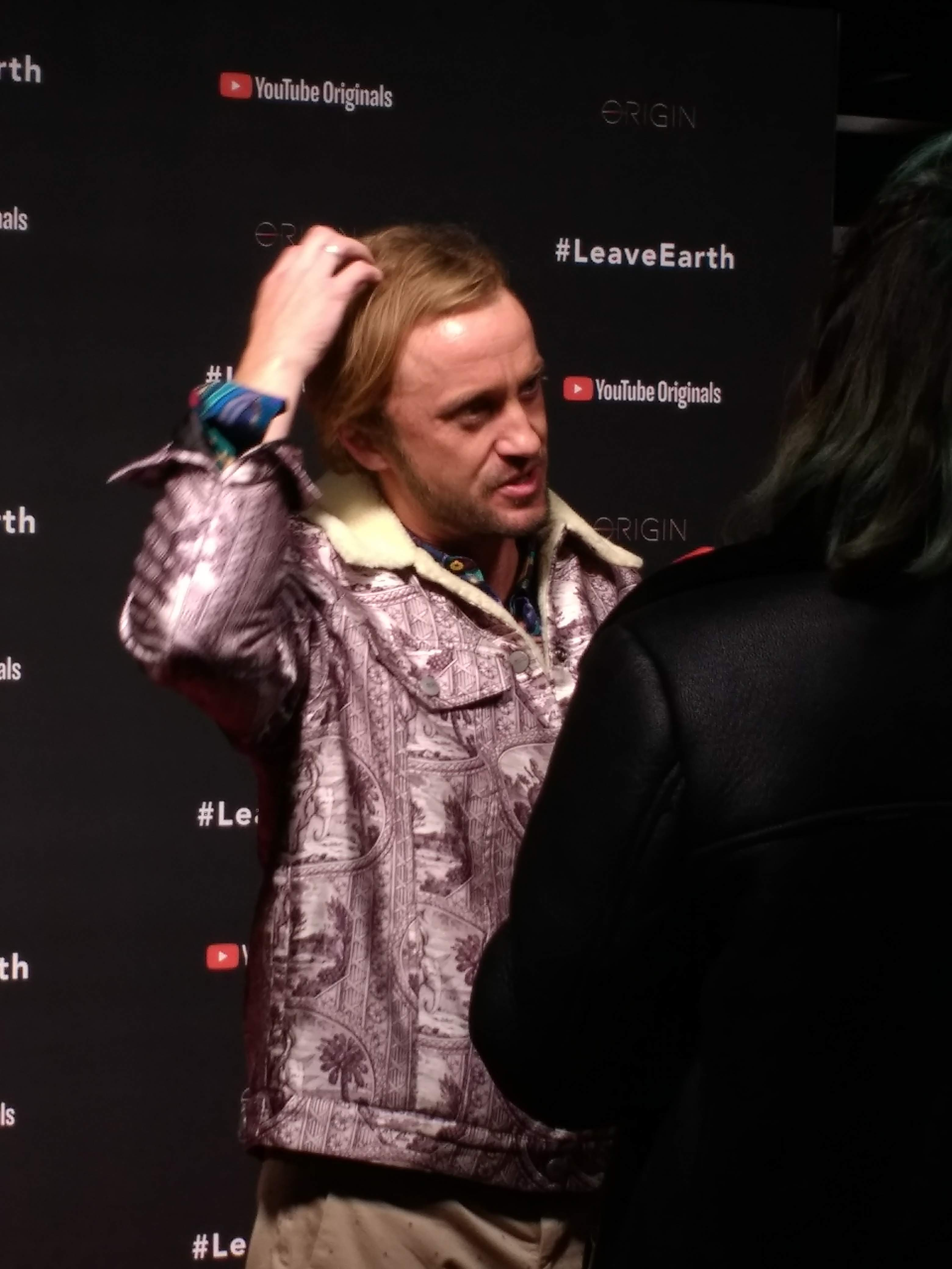 """Tom Felton on the red carpet at the """"Origin"""" series premiere"""