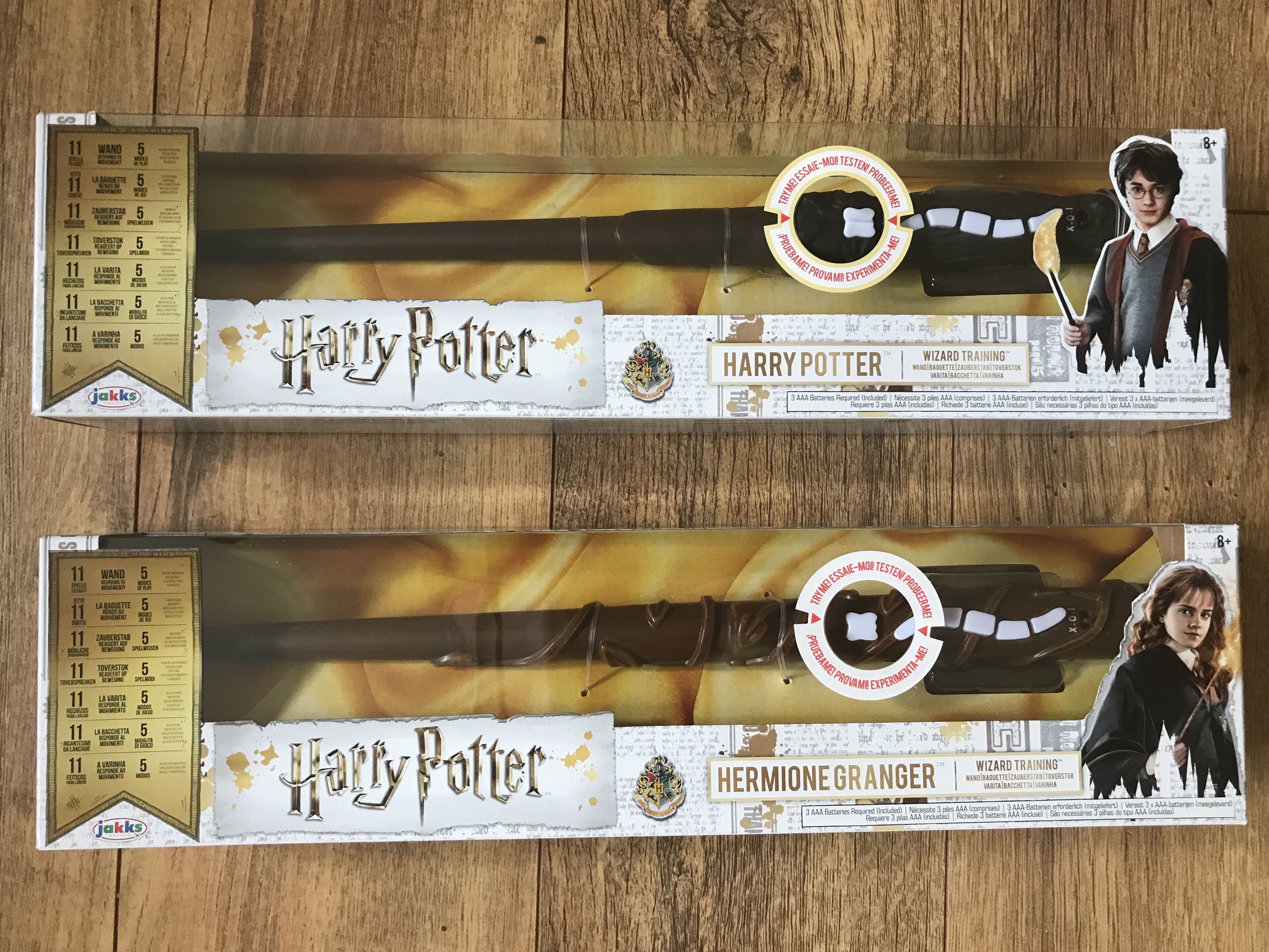 Harry Potter and Hermione Granger Wizard Training Wands from Jakks Toys