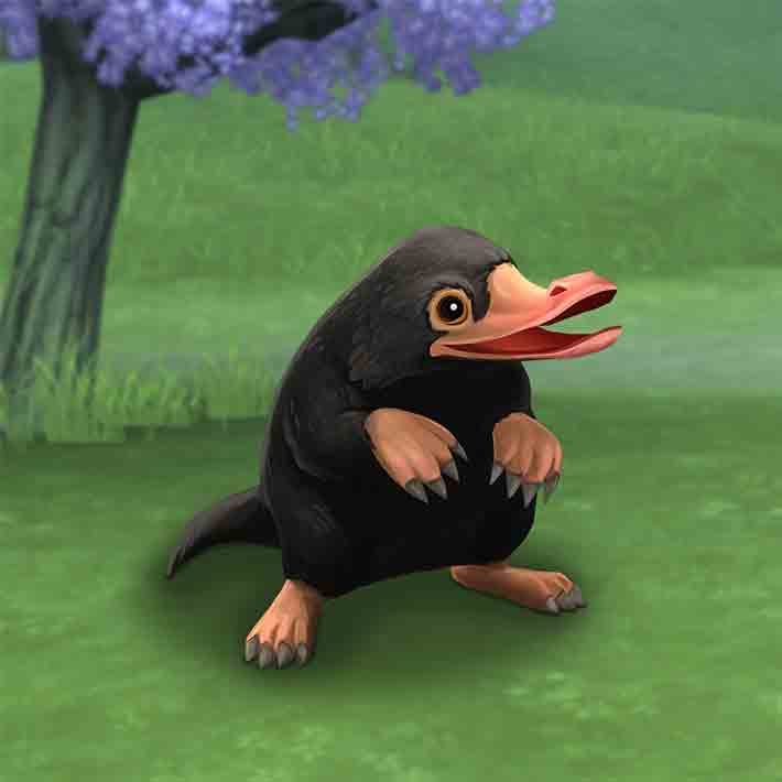 "The Niffler in ""Harry Potter: Hogwarts Mystery"""
