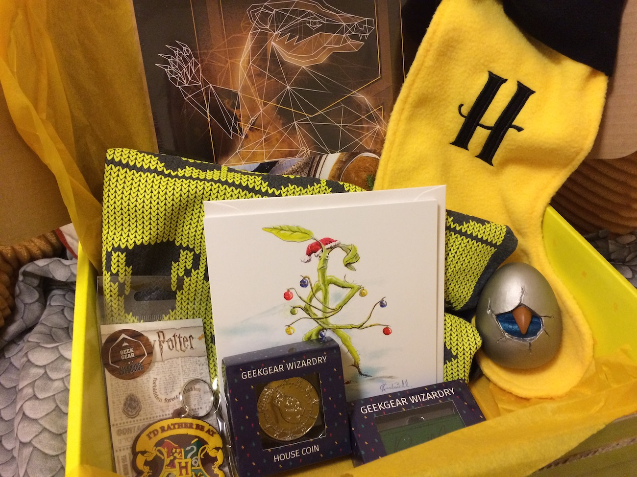 Geek Gear's November World of Wizardry box was themed around the holiday season.