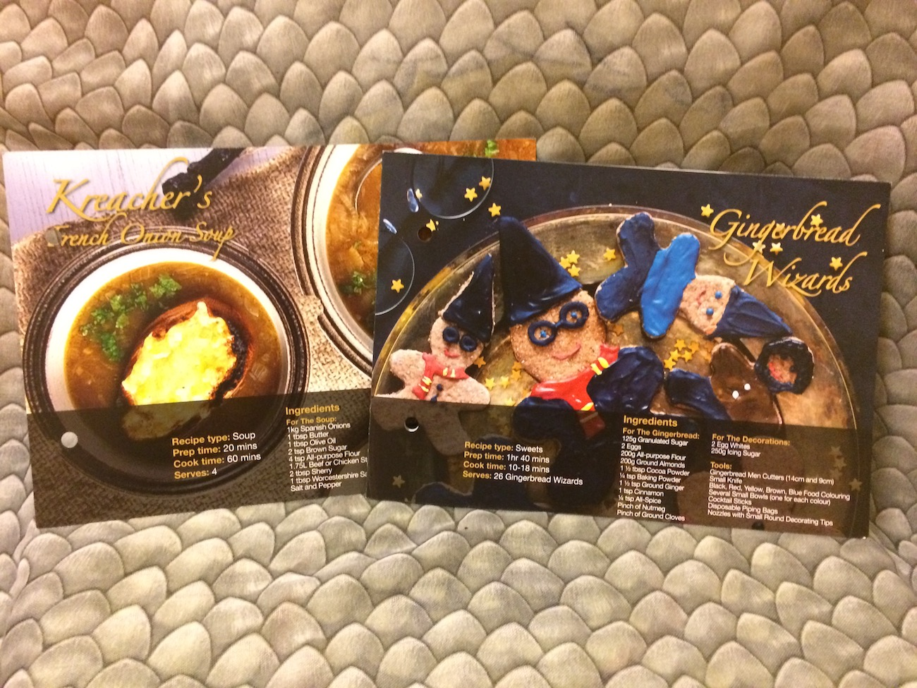 As usual, there were two recipe cards in the World of Wizardry box.