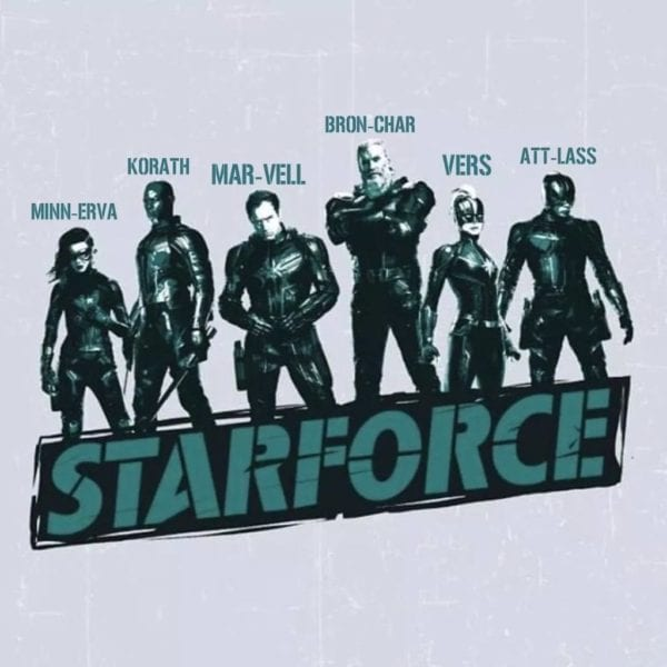 "Jude Law ""Captain Marvel"" Starforce Poster"