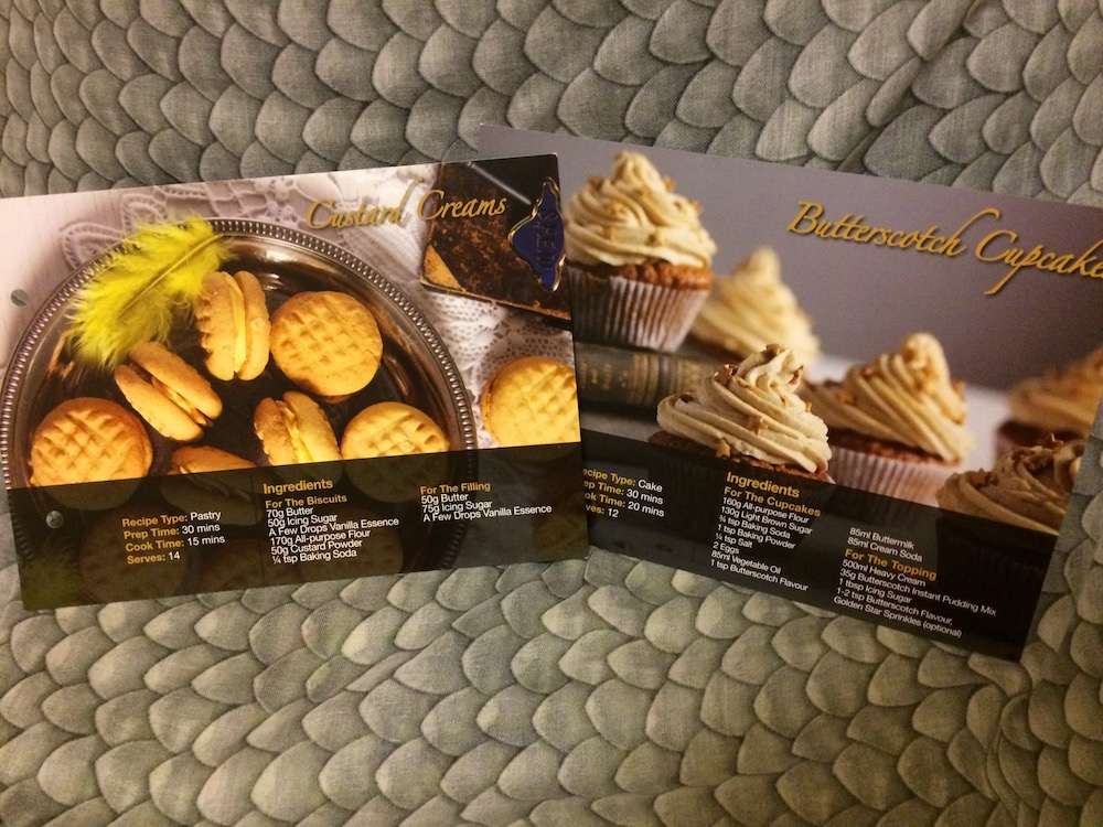 Sweet treats were the feature of this month's recipe cards.