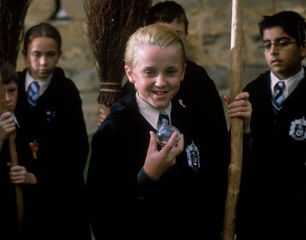 Draco takes Neville's Remembrall.
