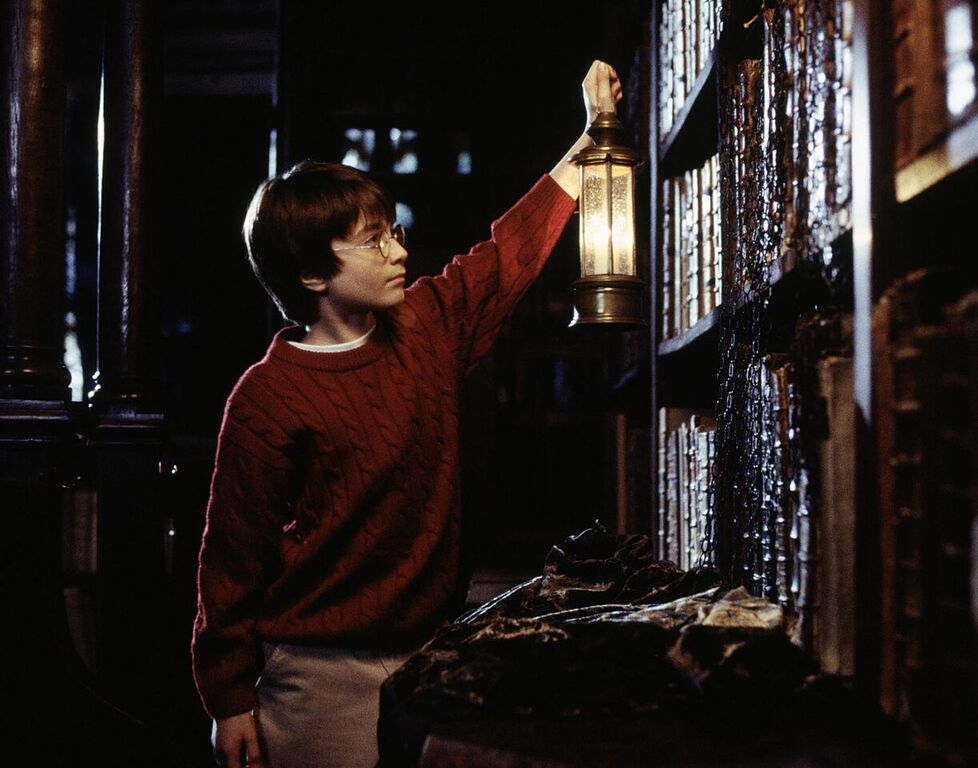 Harry visits the library's Restricted Section.