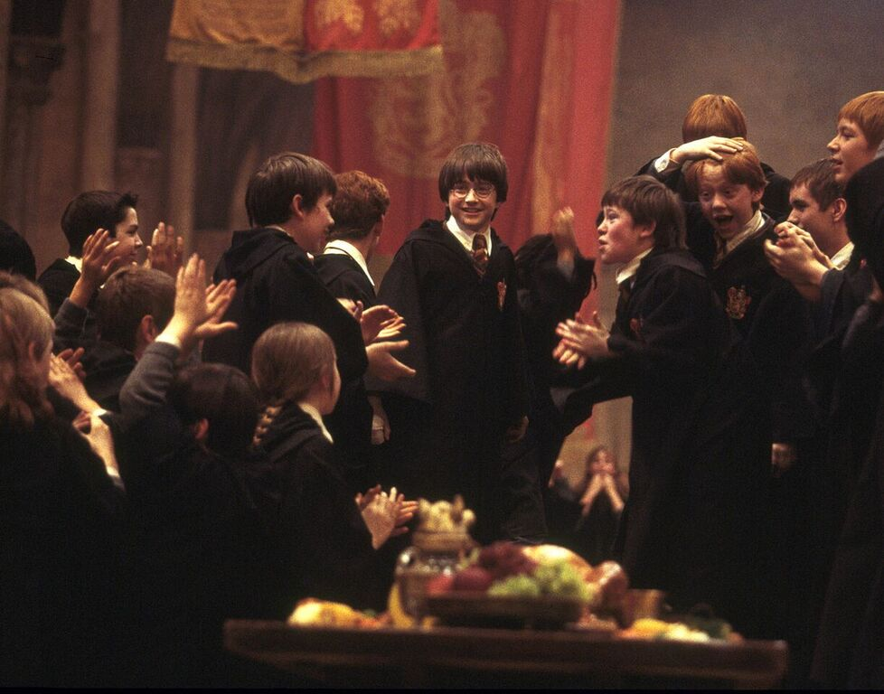 Gryffindor celebrates their House Cup win.