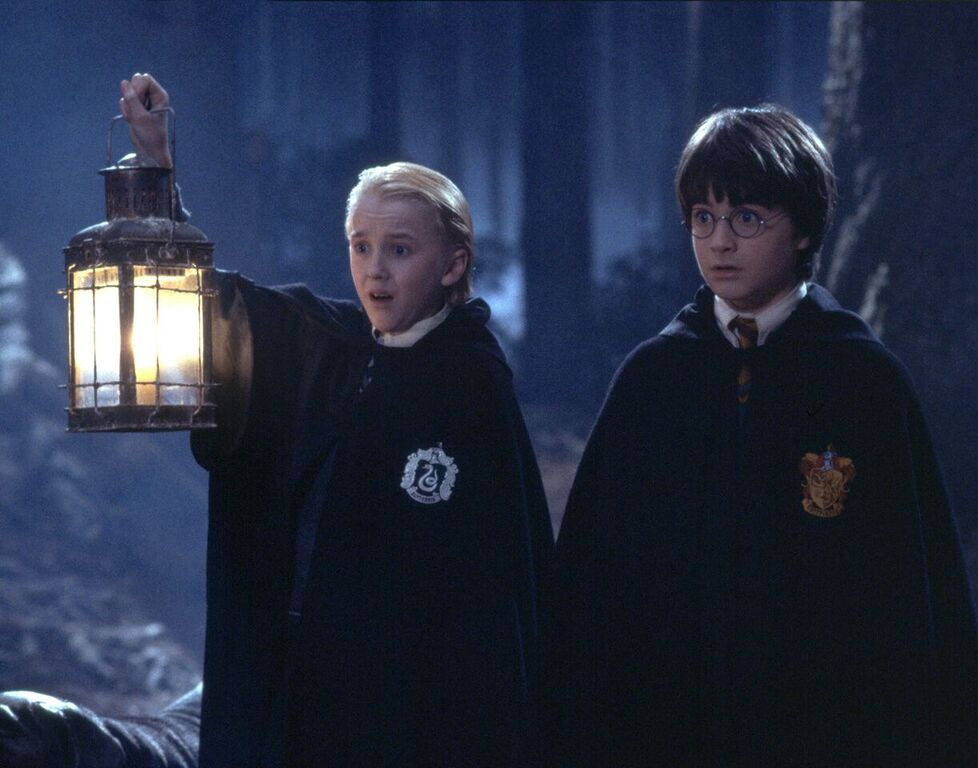 Draco and Harry encounter Lord Voldemort drinking unicorn blood.