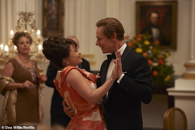 "Helena Bonham Carter in Netflix season 3 of ""The Crown"""