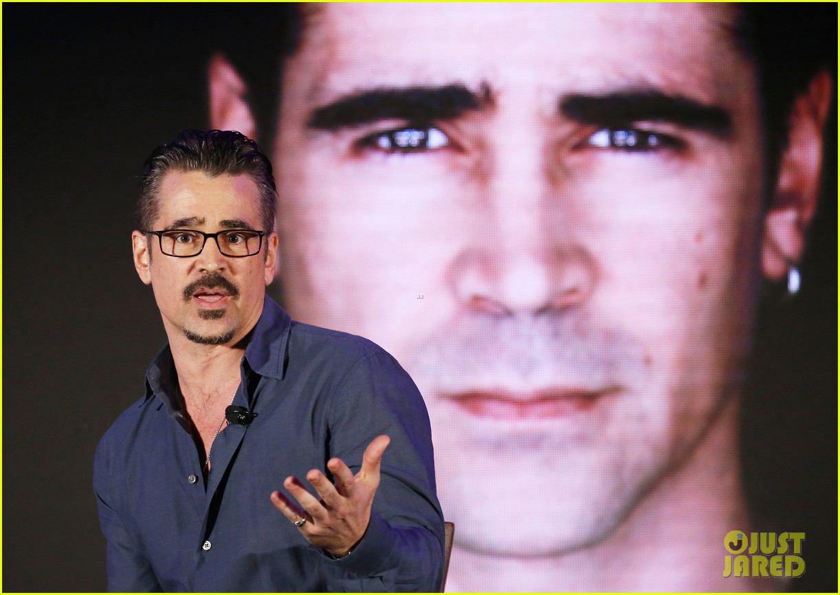 Colin Farrell talks about his past during the City Summit Gala.