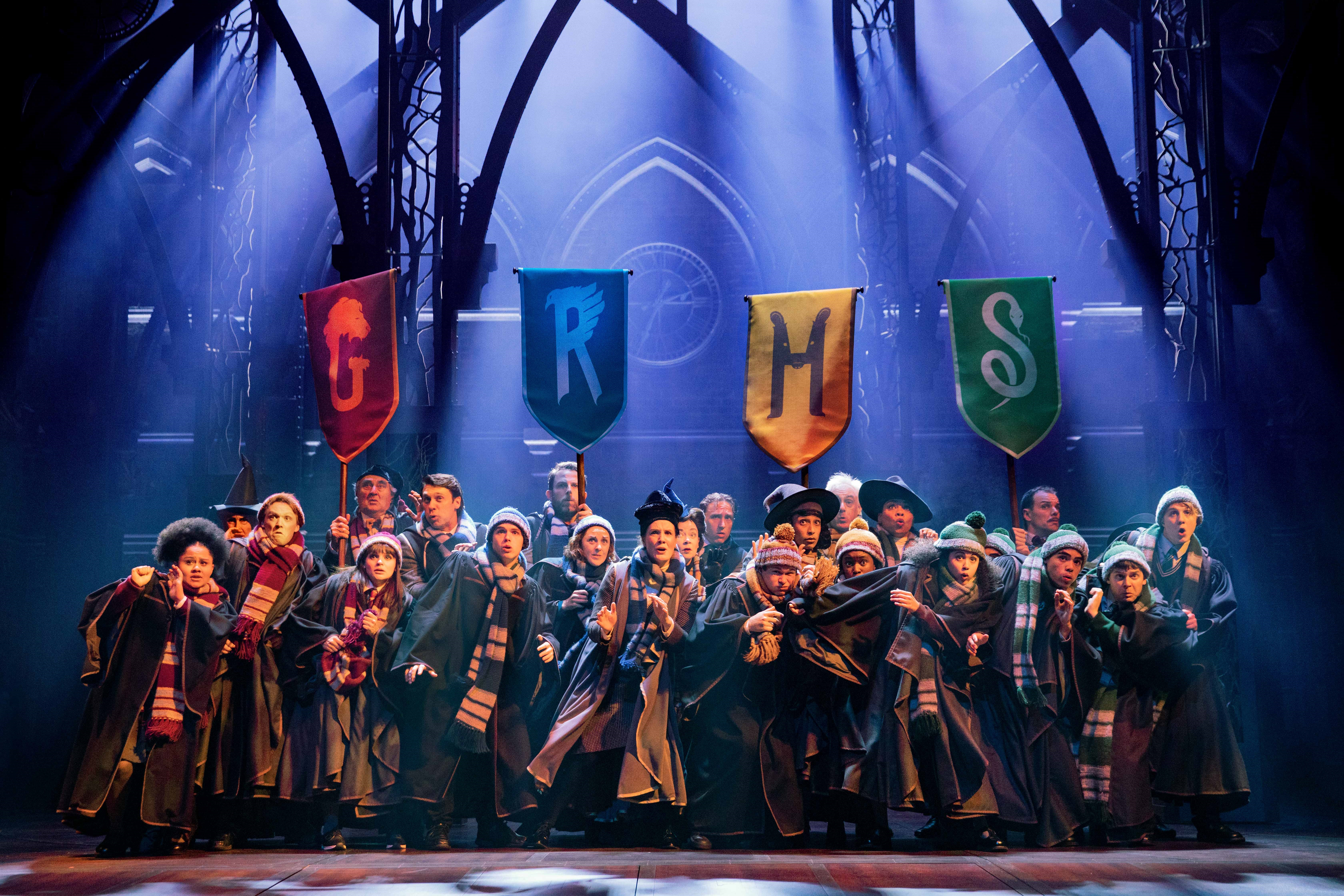 "Hogwarts students represent their Houses during a preview performance of ""Harry Potter and the Cursed Child"" in Melbourne."