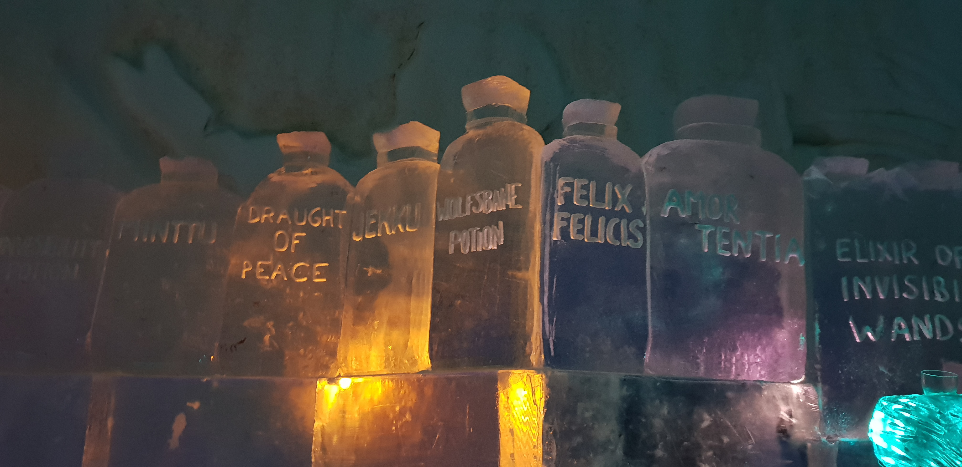 """The Ice Bar contains several potions, which will be familiar to """"Potter"""" fans."""