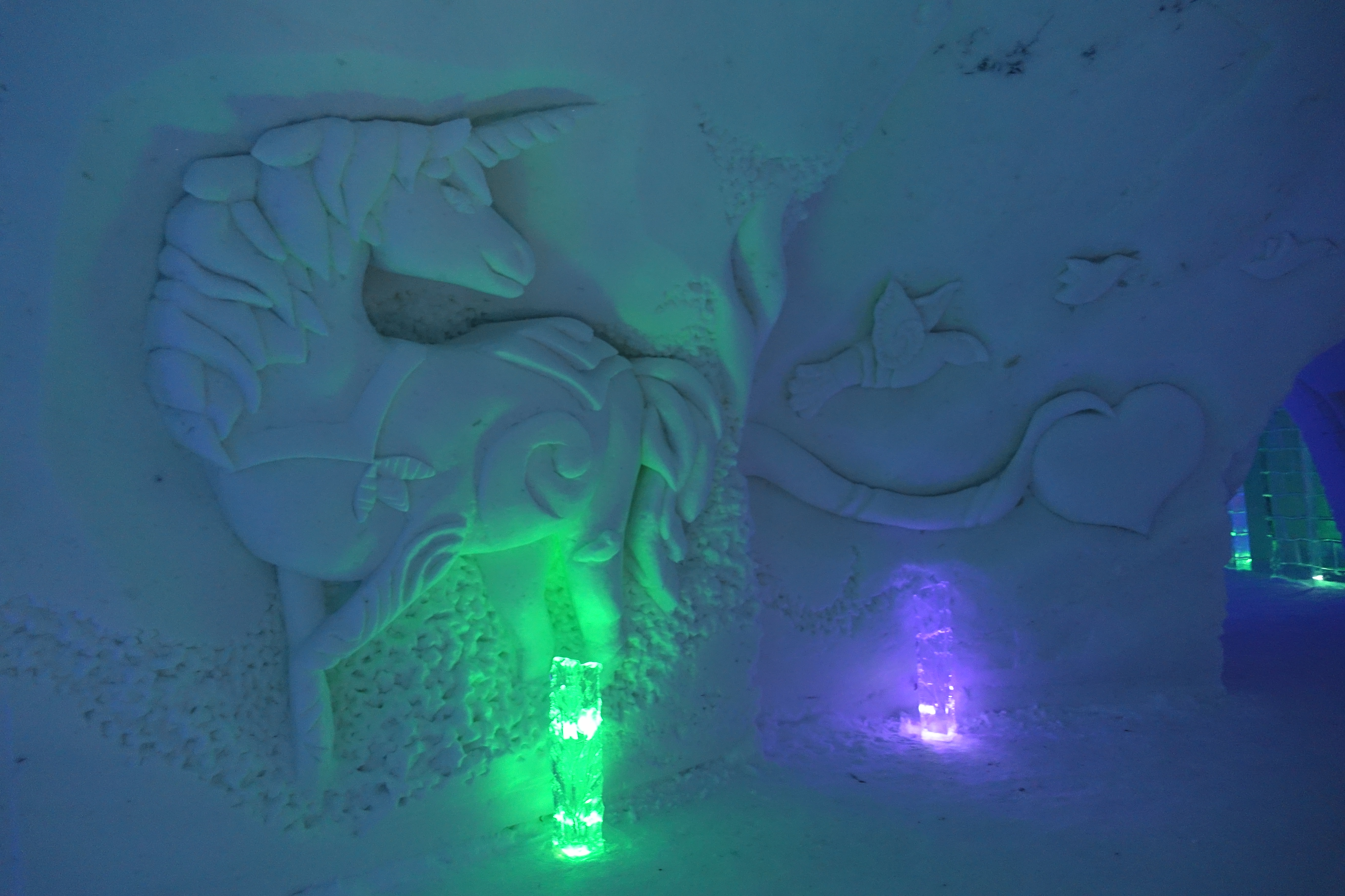You will also be greeted by this carved unicorn.
