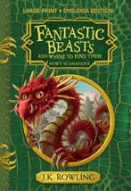 """The cover of the dyslexia-friendly edition of """"Fantastic Beasts and Where to Find Them"""""""