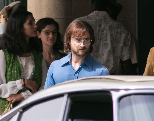 "Daniel Radcliffe is pictured while filming a scene for ""Escape from Pretoria""."