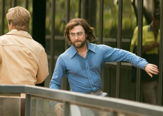 "Daniel Radcliffe dashes through the streets of Adelaide while filming a scene for ""Escape from Pretoria""."