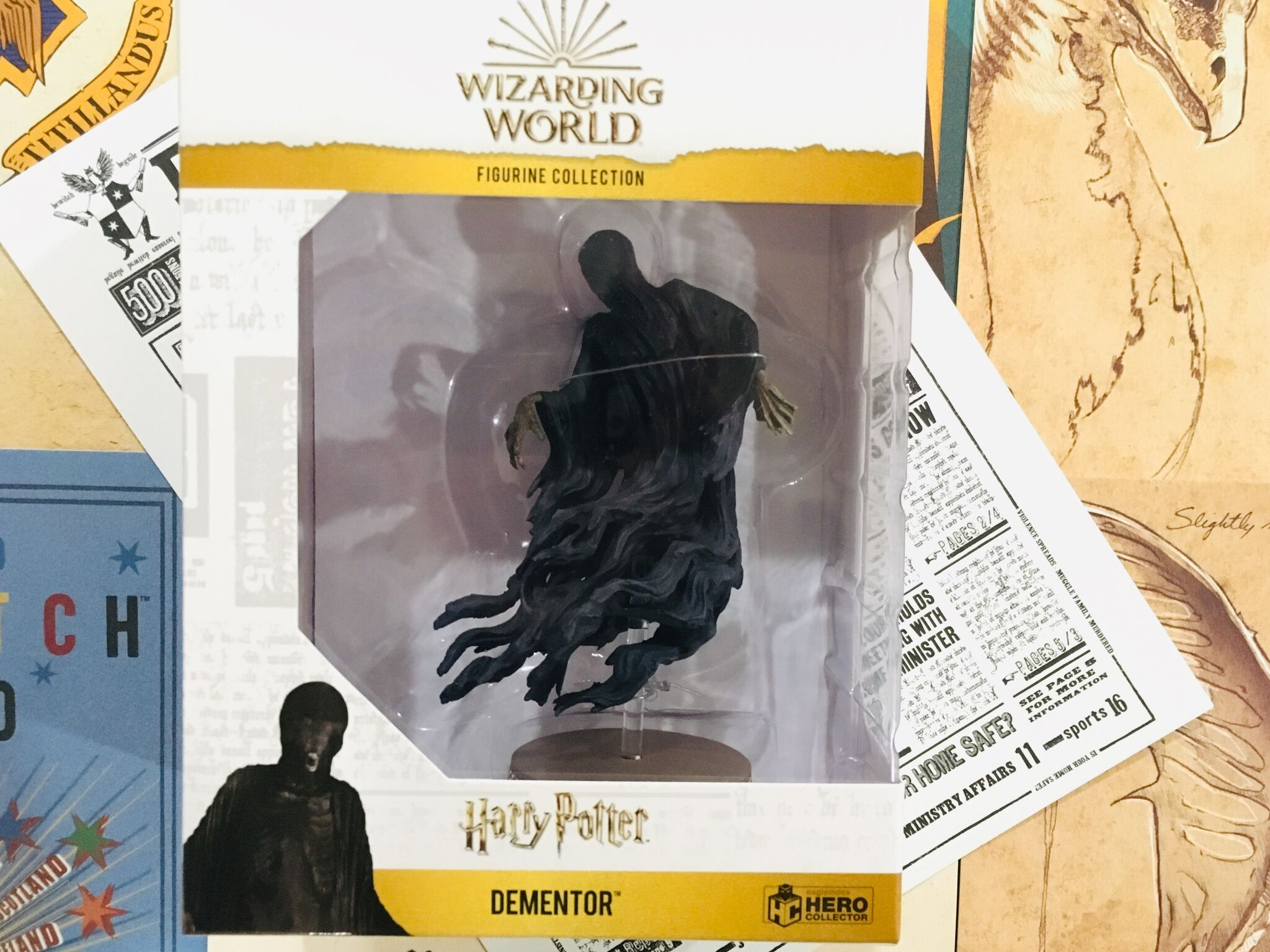 The Dementor is carefully packaged in a collectable box to ensure safety during delivery and as well as for maximum display capabilities.