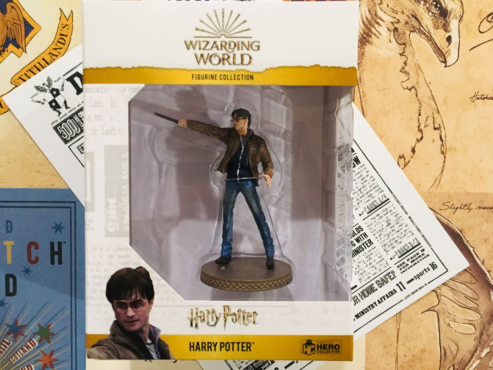 Harry is carefully packaged in a collectible box to ensure safety during delivery as well as for maximum display capabilities.