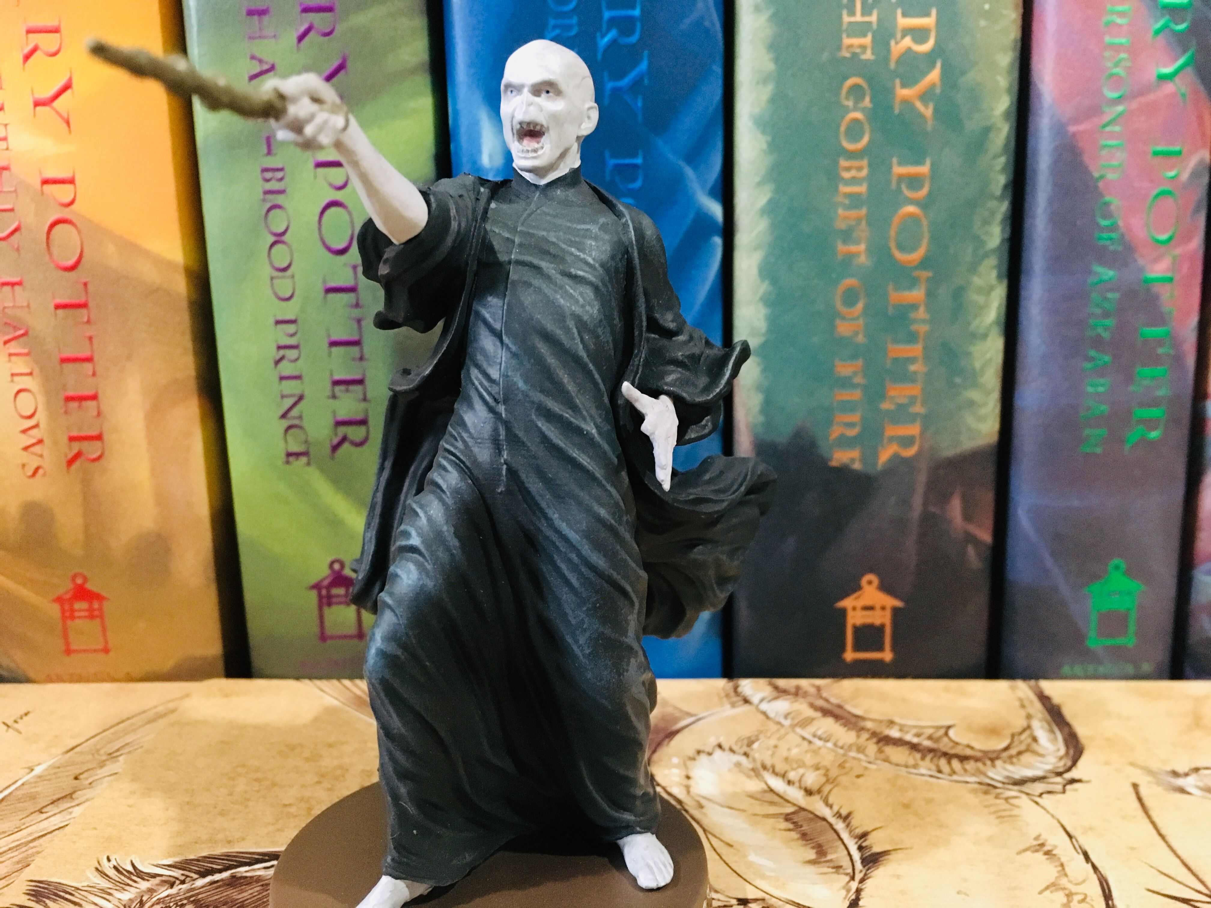 Voldemort's jubilation at battling Harry can be clearly seen in his extremely detailed face.