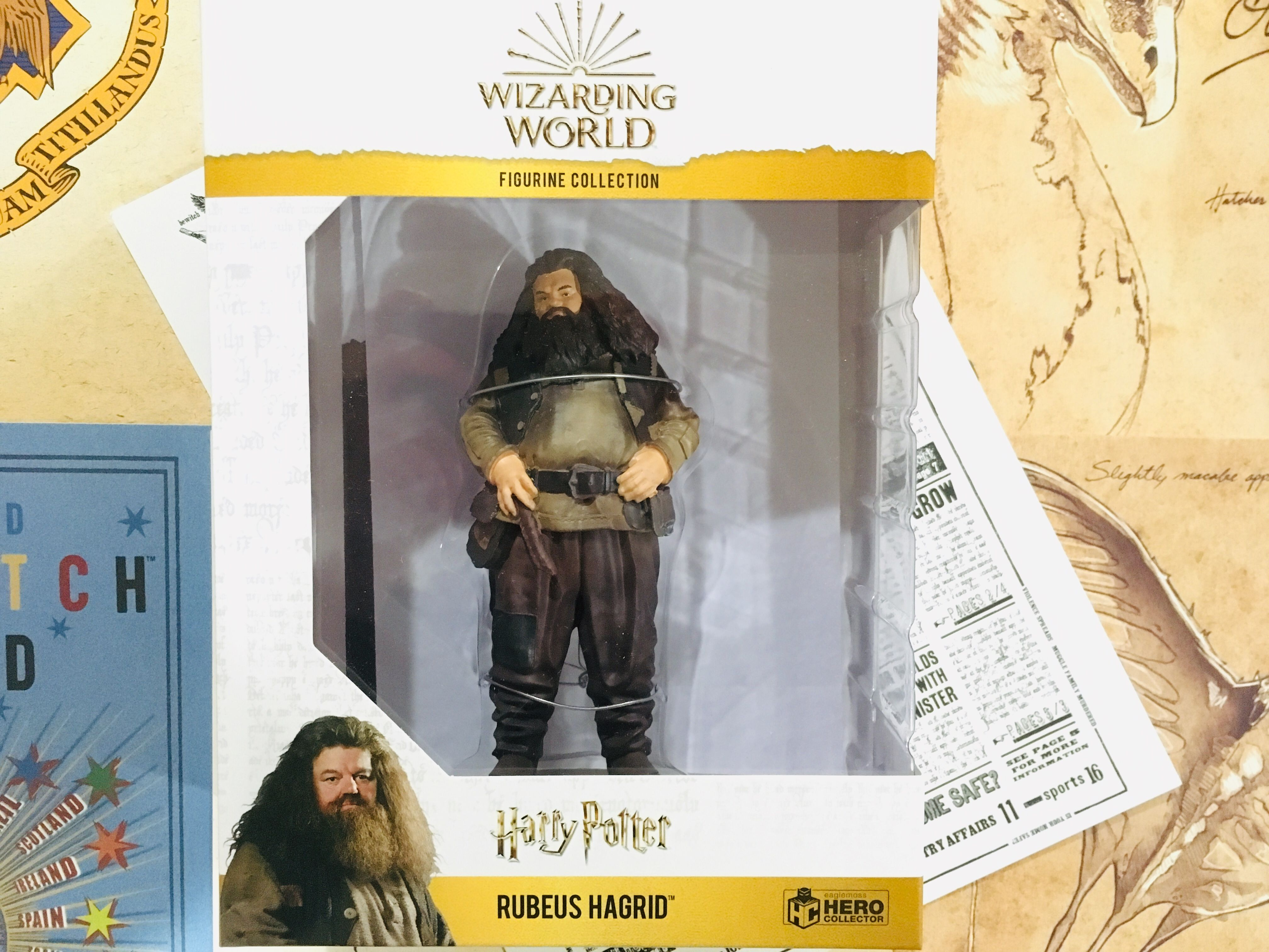 Rubeus Hagrid is carefully packaged in a collectible box to ensure safety during delivery as well as for maximum display capabilities.