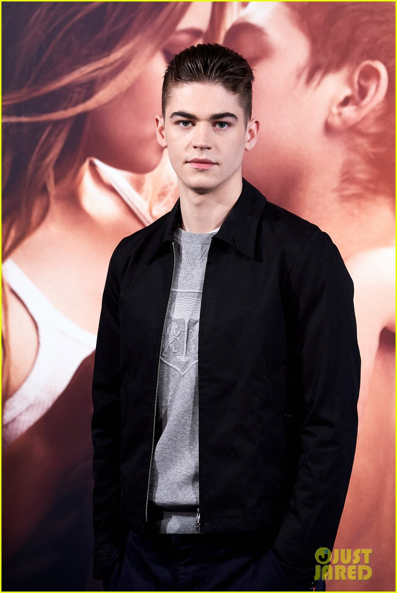 "Hero Fiennes-Tiffin adopts a brooding face during a photocall for ""After"" in Madrid, Spain."