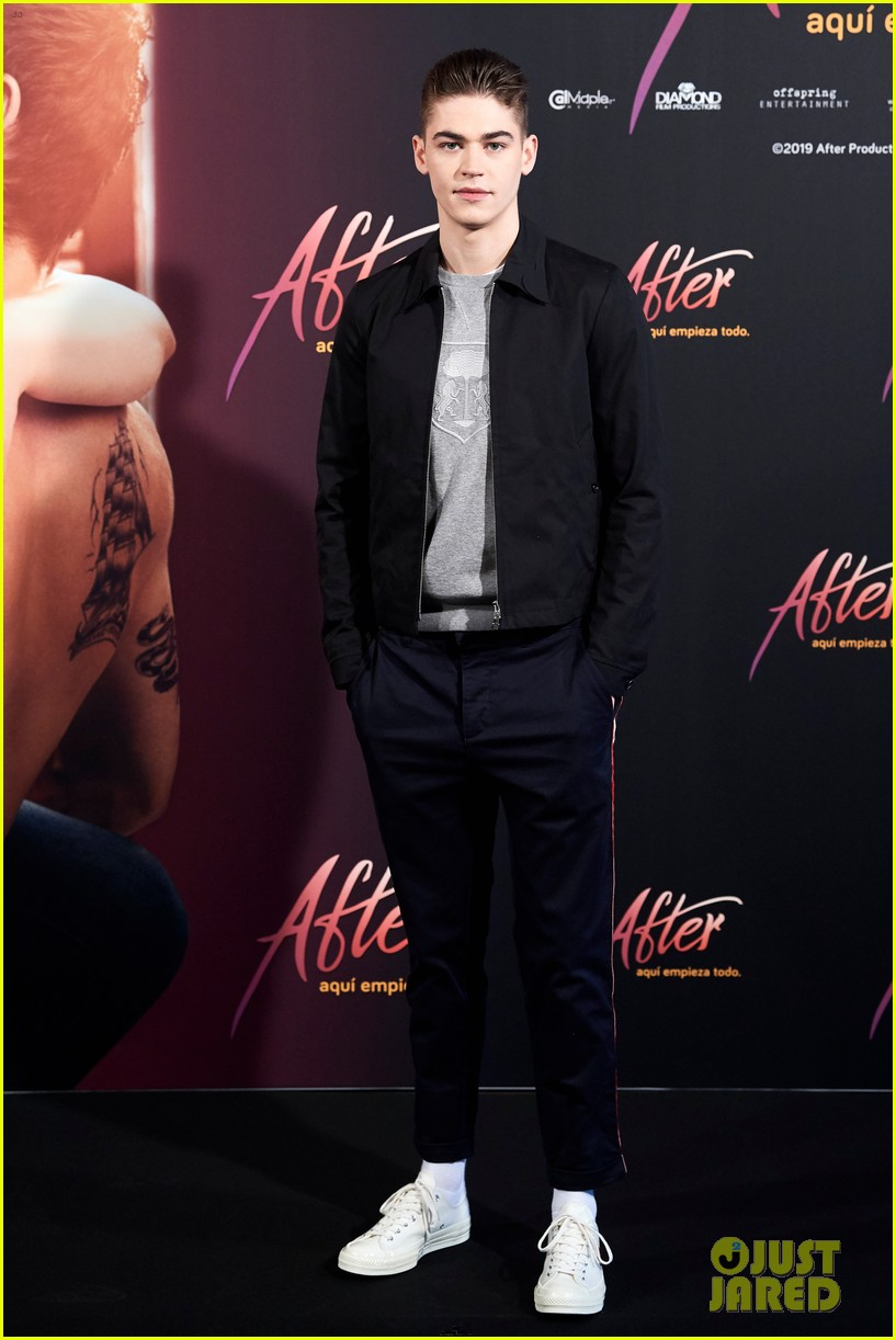 "Hero Fiennes-Tiffin during a photocall for ""After"" in Madrid, Spain"
