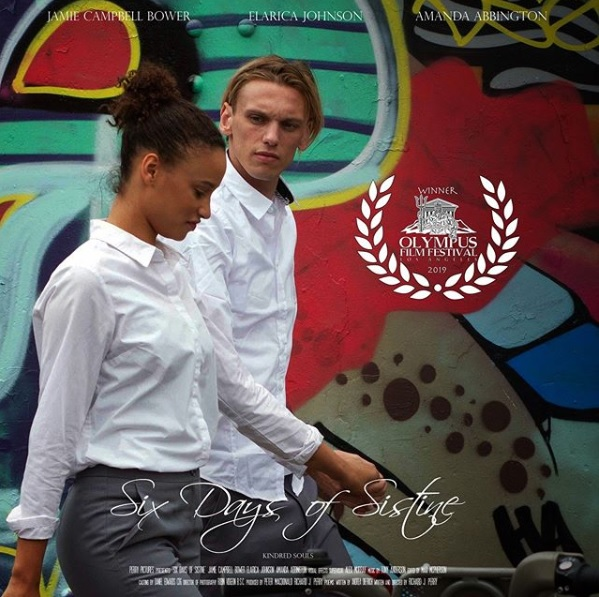 "Jamie Campbell Bower and costar Elarica Johnson talk in this film still from ""Six Days of Sistine""."