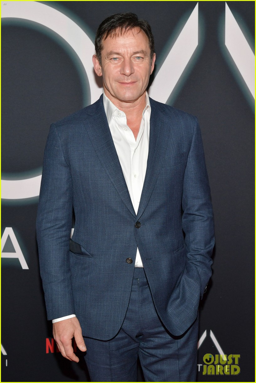 "Jason Isaacs poses for the camera at a premiere event for ""The OA"" in Los Angeles."