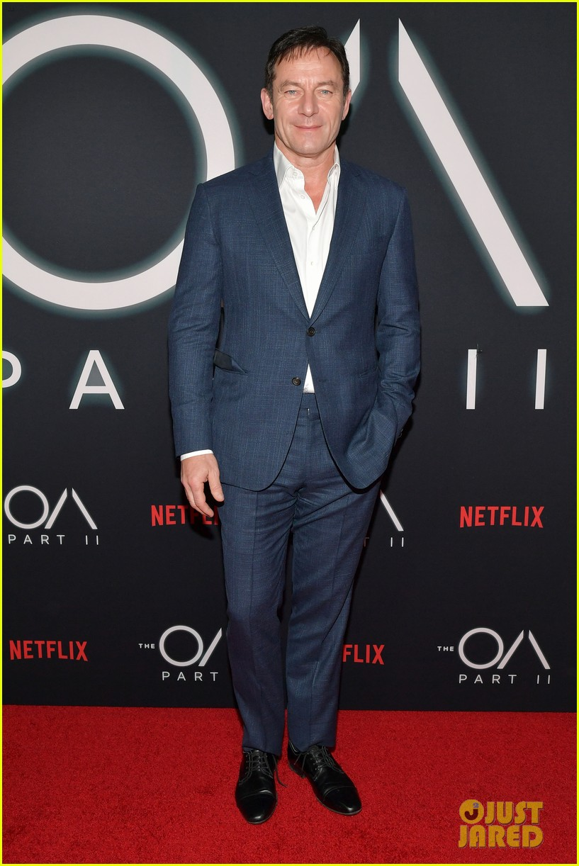 "Jason Isaacs looking dapper at a premiere event for ""The OA"" in Los Angeles"