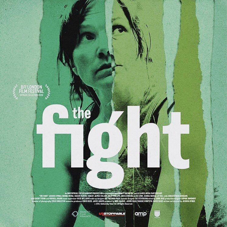 "Film poster for Jessica Hynes' new movie ""The Fight""."