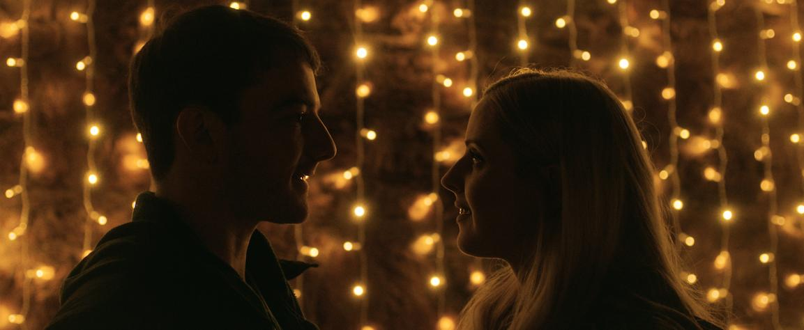"Kevin Guthrie and costar Siobhan Reilly in ""Connect"""