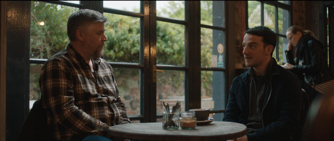 "Kevin Guthrie and costar Stephen McCole in ""Connect"""