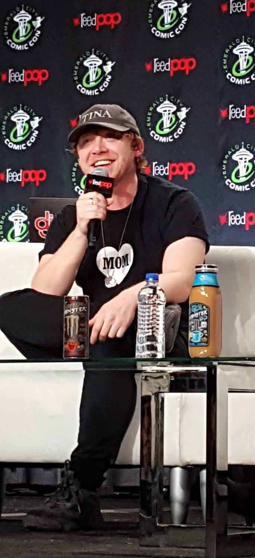 Rupert Grint at his spotlight panel