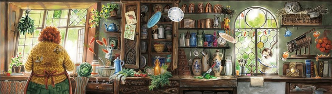The Burrow kitchen illustration