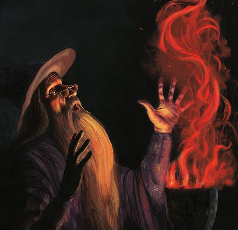 Dumbledore and the Goblet of Fire illustration