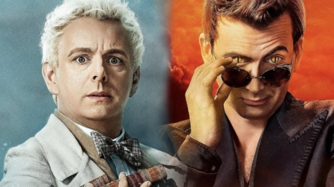 """Michael Sheen and David Tennant in character posters for Amazon Prime's """"Good Omens"""""""