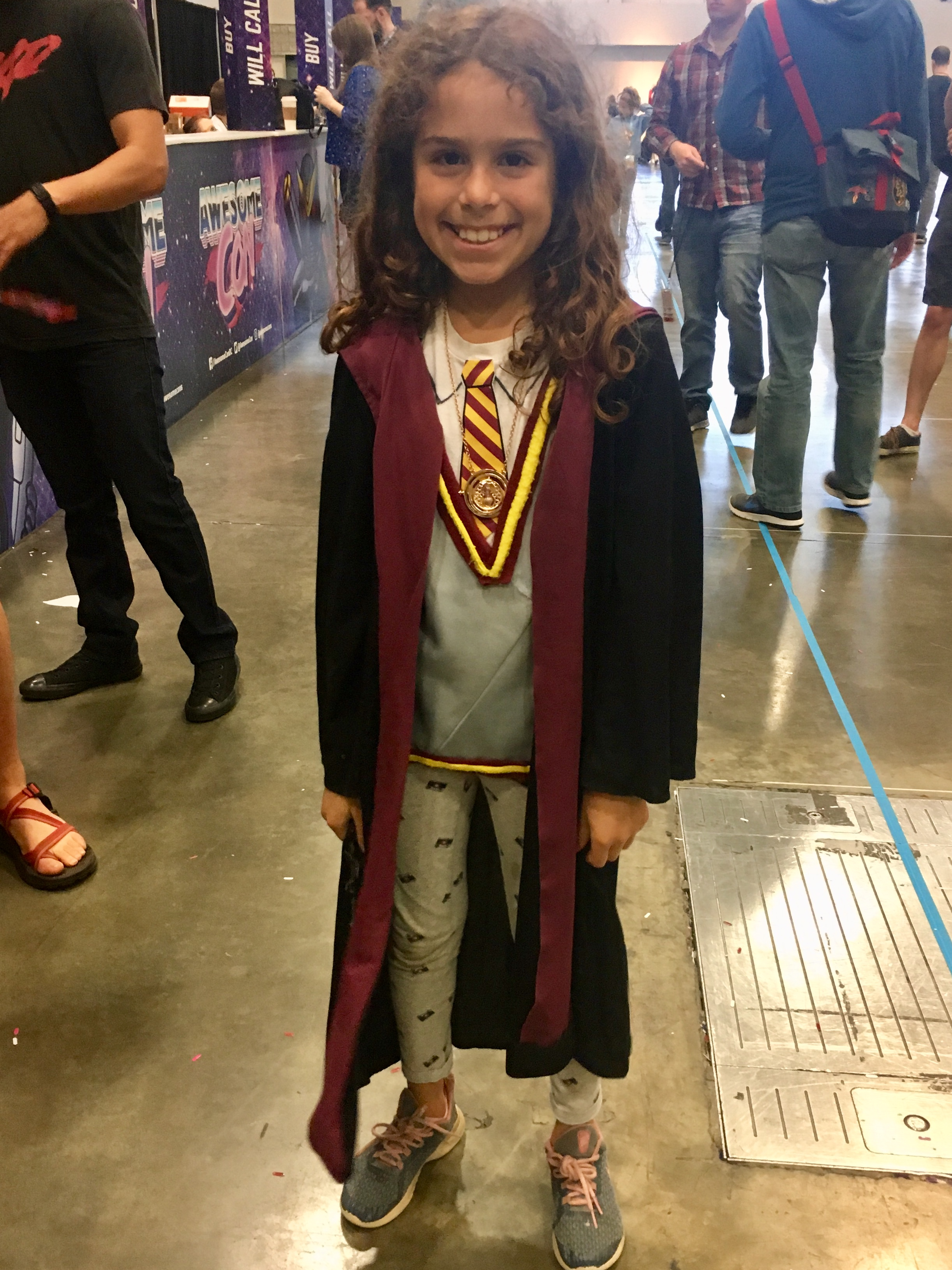 An adorable Hermione, complete with Time-Turner!
